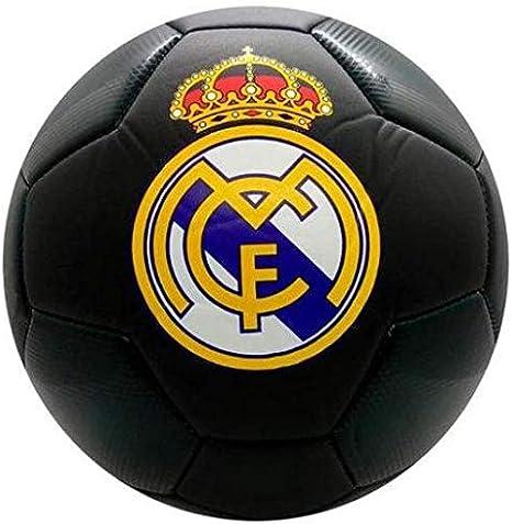 Real Madrid Balon Grande Negro: Amazon.es: Deportes y aire libre