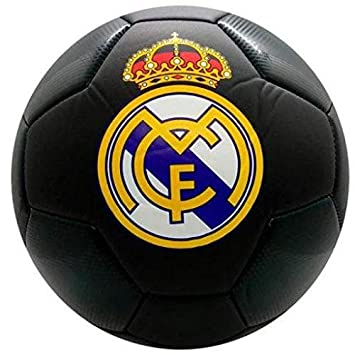 Real Madrid Balon Grande Negro: Amazon.es: Deportes y aire libre