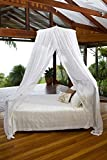 MOSQUITO NET BED CANOPY | KING / QUEEN Size Bed Net | Easy Care machine washable cotton mosquito netting | Secure insect protection with the best quality designer mosquito net