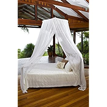 MOSQUITO NET BED CANOPY | KING / QUEEN Size Bed Net | Easy Care machine washable  sc 1 st  Amazon.com & Amazon.com: MOSQUITO NET BED CANOPY | KING/QUEEN Size Bed Net ...