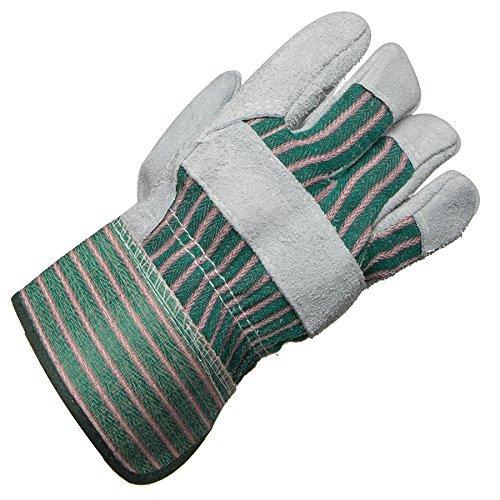 AMMEX - 816DP - Split Cowhide Rubber Gauntlet Cuff Work Gloves