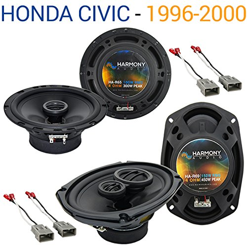 Compatible with Honda Civic 1996-2000 Factory Speaker Replacement Harmony R65 R69 Package