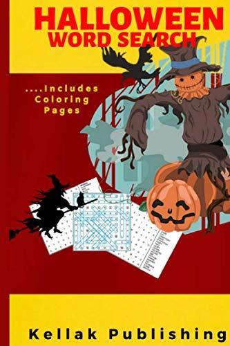 Easy Kids Halloween Word Search (Halloween Word Search: Halloween Word Search Puzzle Book| Halloween Coloring Book Pages For Older Kids| Halloween gifts for kids & Adult (Gag)