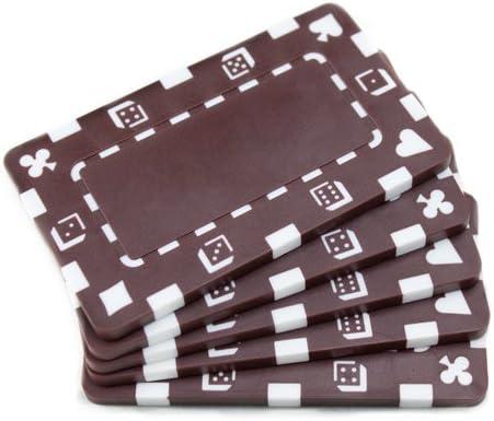 Brybelly 長方形 ヨーロピアンスタイルポーカープレート -5枚パック