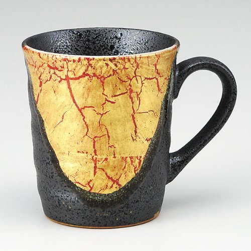 KUTANI YAKI(ware) Coffee Mug Gold Leaf