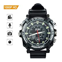 Toughsty™ 16GB 1920×1080P HD Wearable Hidden Camera Wrist Watch DV Camcorder Support Photo Taking