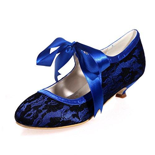 L@YC Damen Hochzeit Schuhe Seide / Spitze Party Night 9001-05 Court Schuhe / mehr Farben erhältlich Blue
