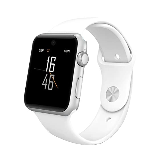 Reloj inteligente para teléfonos Android, color blanco: Amazon.es: Relojes