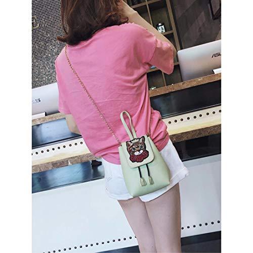 La Tasca Messenger Di Donna Qier Tracolla Portafoglio Borsa Spesa Moda Tote Verde Bianco Grande Per A xkb Capacità x6qv7qpw8g