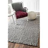 nuLOOM 200NCCL01G-860116 Hand Woven Natural Fibers 100 Percent Jute Grey Rug (8-Feet 6-Inch X 11-Feet 6-Inch)