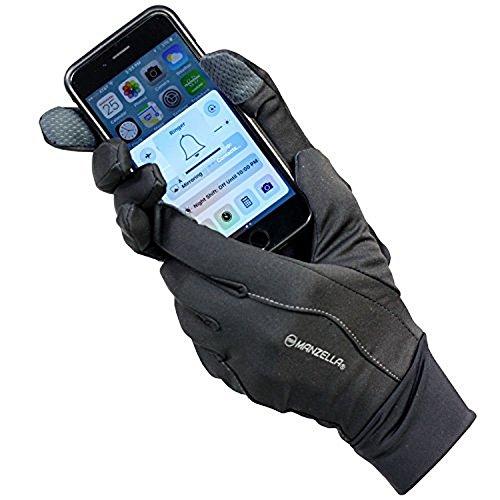 Manzella Women's All Elements 1.0 Touch Tip Gloves, Black, (Manzella Ski)