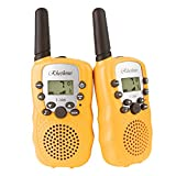Kids Walkie Talkies, Rheshine Rechargeable Walkie Talkie for Kids 2 Miles(3KM) Long Range 22 Channel 0.5W FRS/GMRS 2 Way Radios (1 Pair) ((2nd STY.) - Yellow)