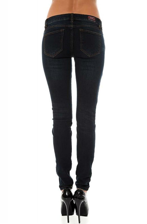 Lip Service Women's Indigo Denim Punk Rocker Needle Fit Skinny Jeans