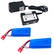 Wwman 2pcs 7.4v 2000mah Offical Battery and 1to2 Charger for Syma X8c X8w X8G Rc Quadcopter Drone Spare Parts