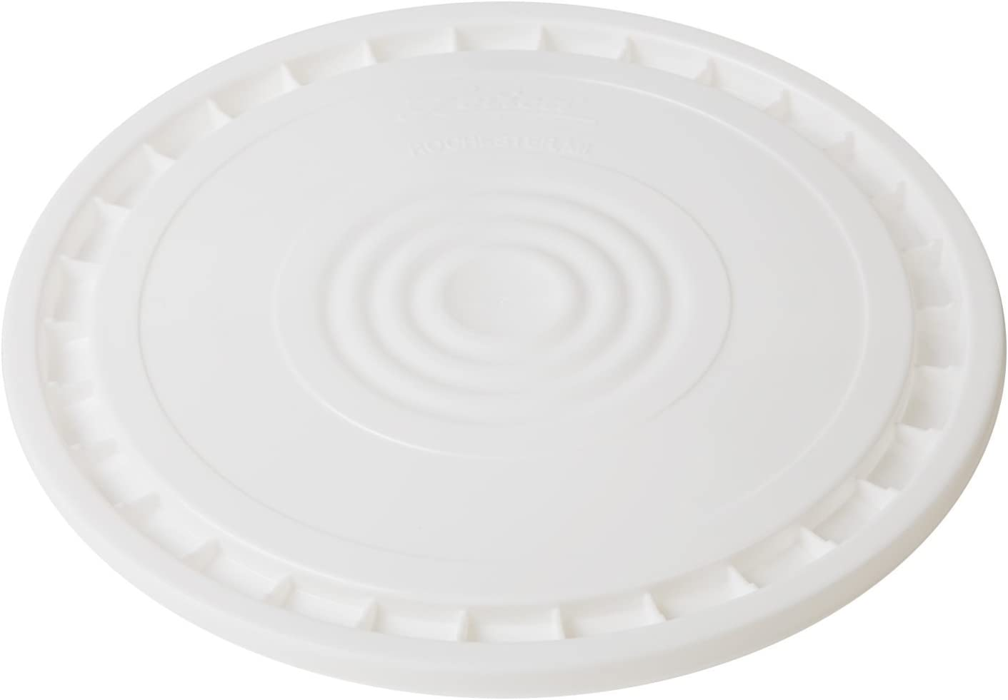 Hudson Exchange Reusable Easy Peel Lid for 3.5, 5, 6, and 7 gal Buckets, HPDE, White