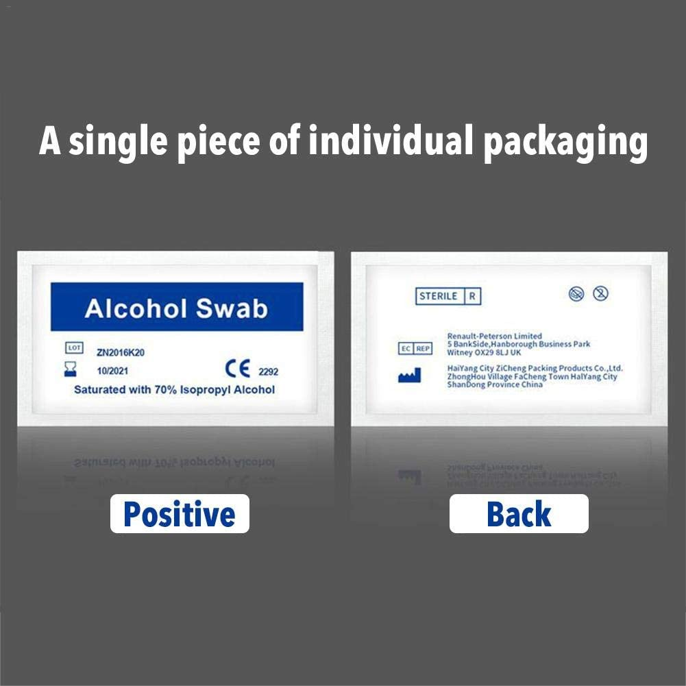 vividesire 100PCS Disposable Wipes Alcohol Swab Cleaning Paper Hand Cleaner Wipe Pads Goggle Phone Skin Wound Portable Wet Tissue for Self-driving Travel