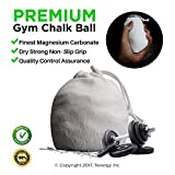 Laundry Shoots Gym Chalk Ball 56 Grams for Strong Grip High-volume Workouts Rock Climbing Bouldering Crossfit Gymnastics Olympic Lifting Pole Dancing Weightlifitng Made of Durable Mesh Bag with Cord Lock Refillable
