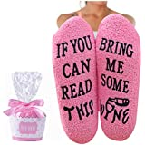 Wine Fuzzy Socks For Women Wine Gift Cozy Soft IF YOU CAN READ THIS Socks