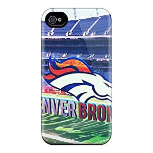 First-class Case Cover For Iphone 4/4s Dual Protection Cover Denver Broncos Stadium