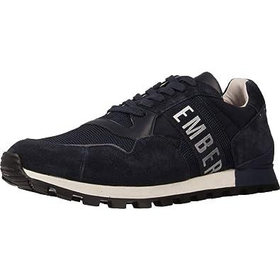 innovative design 95a51 35cbe Bikkembergs Sneakers Uomo Tessuto camoscio Blu Scuro Logo Bianco. cod.  BKE109295