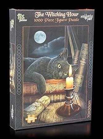 Fantasía Puzzle 1000 piezas NEGROS BRUJAS Gato THE WITCHING ...