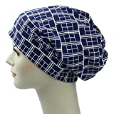 Satin Lined Slap Sleep Cap Interior Smooth Fabric Headwear Slouchy Gifts For Frizzy Girls