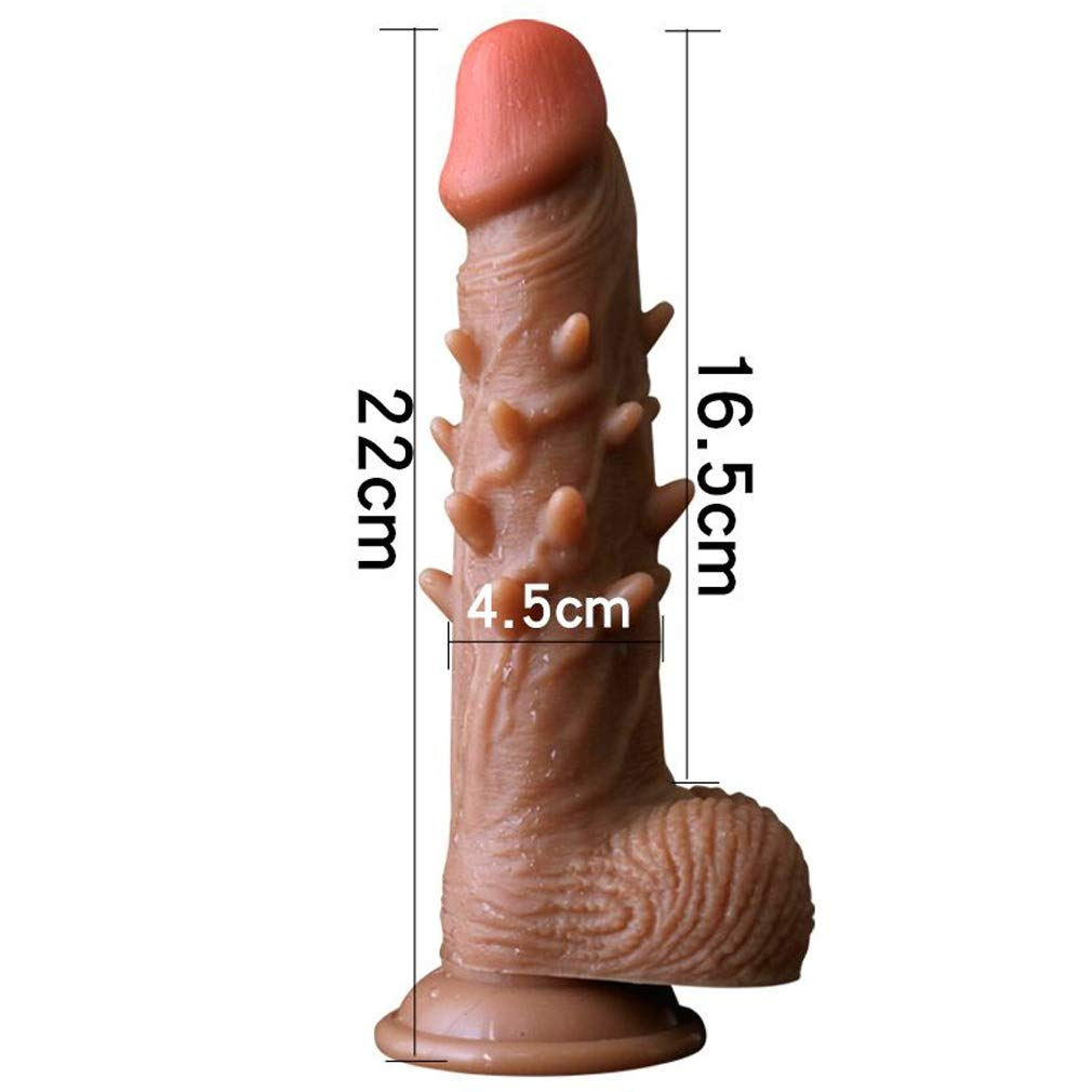 Wsnbb Consolador Realista, Silicona con de Dos Capas con Silicona testículos regordetes, réplica, Real Dong Anal Plug Penis, Small c9ea52