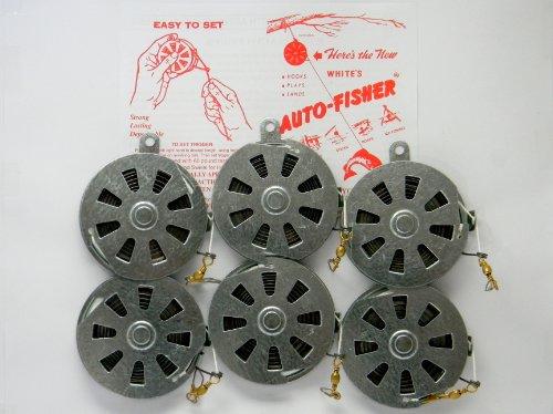 (6 White's Auto Fisher Yo Yo Automatic Fishing Reel - Package of 1/2 Dozen YoYos - Yo Yo Fish Trap)
