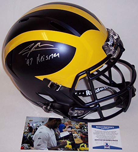 Charles Woodson - Autographed Full Size Riddell Speed Football Helmet - Michigan Wolverines - BAS Beckett