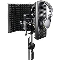 TTAototech Protector de aislamiento de micrófono, protector de micrófono plegable de aislamiento profesional, reflector…