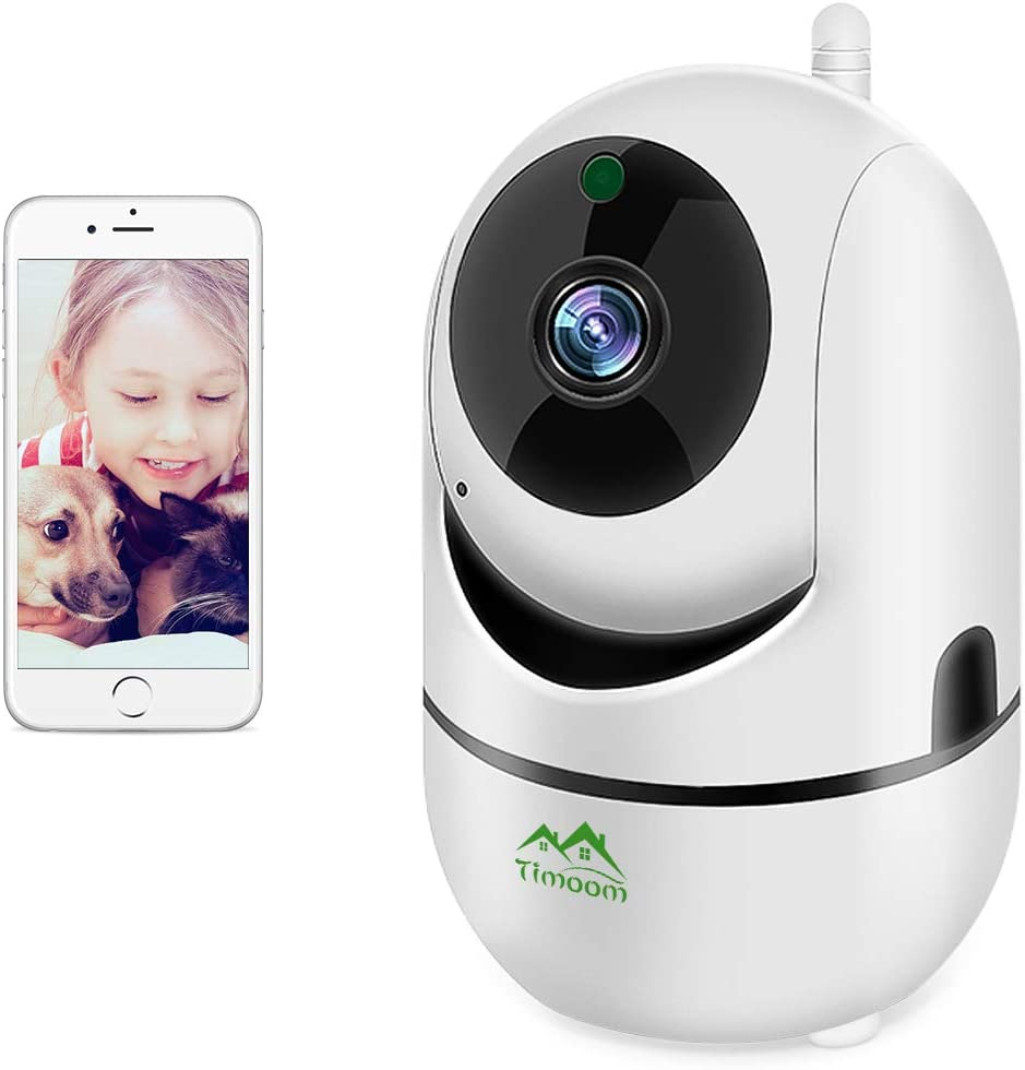 1080P HD WiFi IP Camera,Dome Home Security Surveillance Wireless Camera Pet Camera with Cloud Storage Two Way Audio Remote Viewing Pan Tilt Zoom Night Vision Motion Detect for Home Shop Office