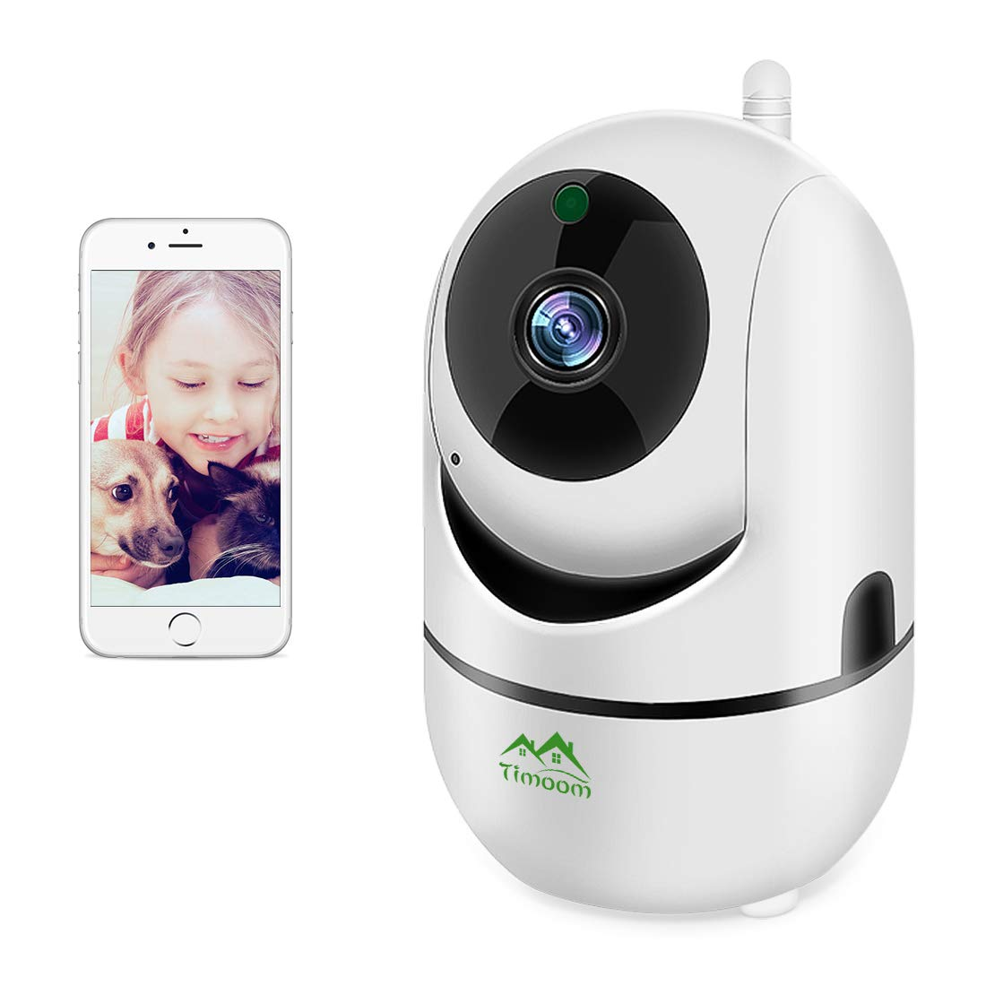1080P HD WiFi IP Camera,Dome Home Security Surveillance Wireless Camera Pet Camera with Cloud Storage Two Way Audio Remote Viewing Pan/Tilt/Zoom Night Vision Motion Detect for Home/Shop/Office by Toronto Warehouse
