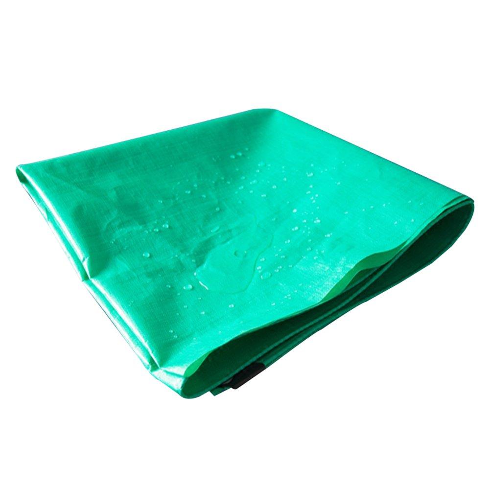 GLJ LKW-doppelt Grün Broadcom Plane Plane Kunststoff Regen Abdeckung Sonnenschirm Wasserdichtes Tuch Wasserdicht Sonnencreme Plane (Farbe   Grün, größe   3x3m)