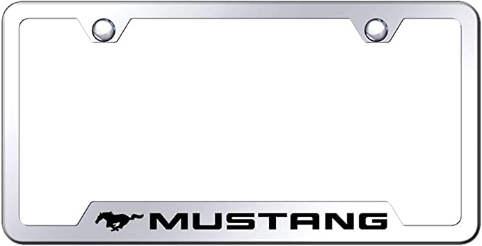 Ford Mustang 5.0 Laser Etched Black Stainless Steel License Plate Frame
