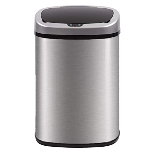 Kitchen Trash Can For Bathroom Bedroom Home Office Touch Free