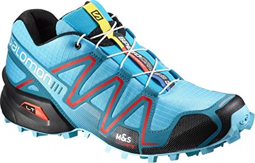 Salomon Women's Speedcross 3 Trail Running Shoe, Light Onix/Topaz Blue/Dark Cloud, 8.5 M US