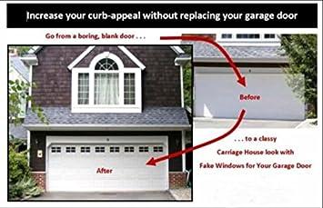 garage door windows kitsDECORATIVE GARAGE DOOR WINDOWS DOUBLE KIT   Amazoncom