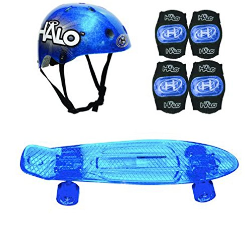 Halo 6-Piece 23 Inch Skateboard Combo Set Blue