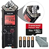 Tascam DR-22WL Portable Handheld 2-Channel Recorder with Wi-Fi Bundle with 16GB + Batteries + Fibertique Cloth