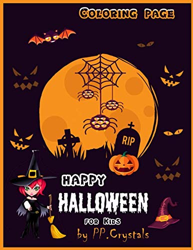 Happy Halloween Coloring Page for Kids -