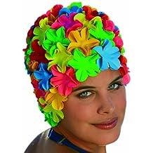 Fashy Multi-Color Flower Petals Retro Rubber Swim Cap - Made in Germany