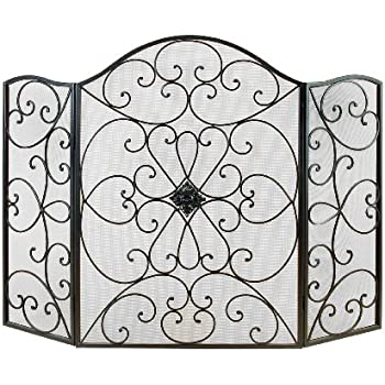 Deco 79 21626 Metal Fire Screen Ultimate in Fire Protection CategoryAmazon com  Deco 79 21871 Metal Fire Screen  35 H 55 W  Home   Kitchen. Metal Fireplace Screens. Home Design Ideas