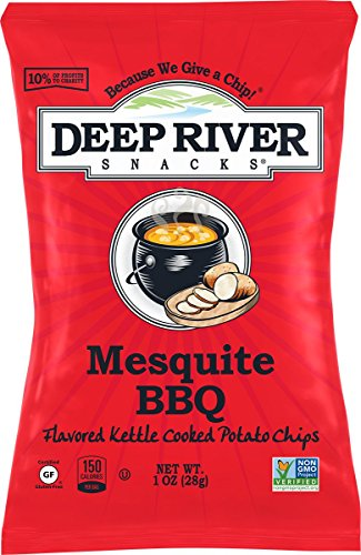 Deep River Snacks Kettle Potato Chips, Mesquite BBQ, 1-Ounce (Pack of 80), Gluten Free, Non GMO
