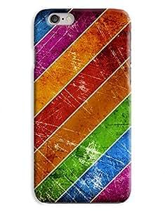 Grungy Multi Colour Stripes iPhone 6 Plus Hard Case Cover