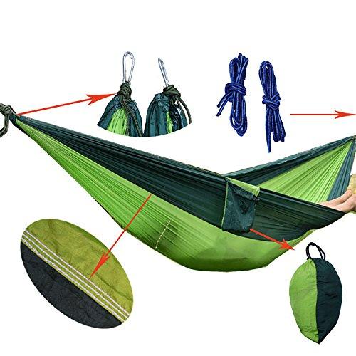 SUHANG Hamac Sport Outdoor Hamacs Hamacs Toile Parachute Loisirs Double Super Mince Et Léger