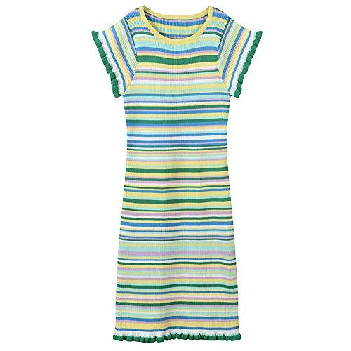 La Barre L'été À Et Verte Manches Printemps Robe Rayures Xmy Package Robes Courtes Minceur 1PpTfqF