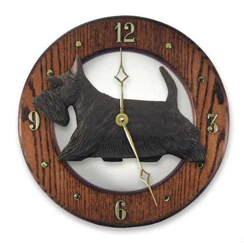 Michael Park Old English Sheepdog Wall Clock in Dark Oak