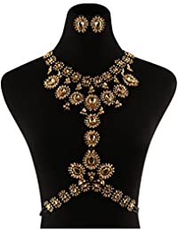 5 Colors Body Jewelry with Earrings Set Women Novelty...