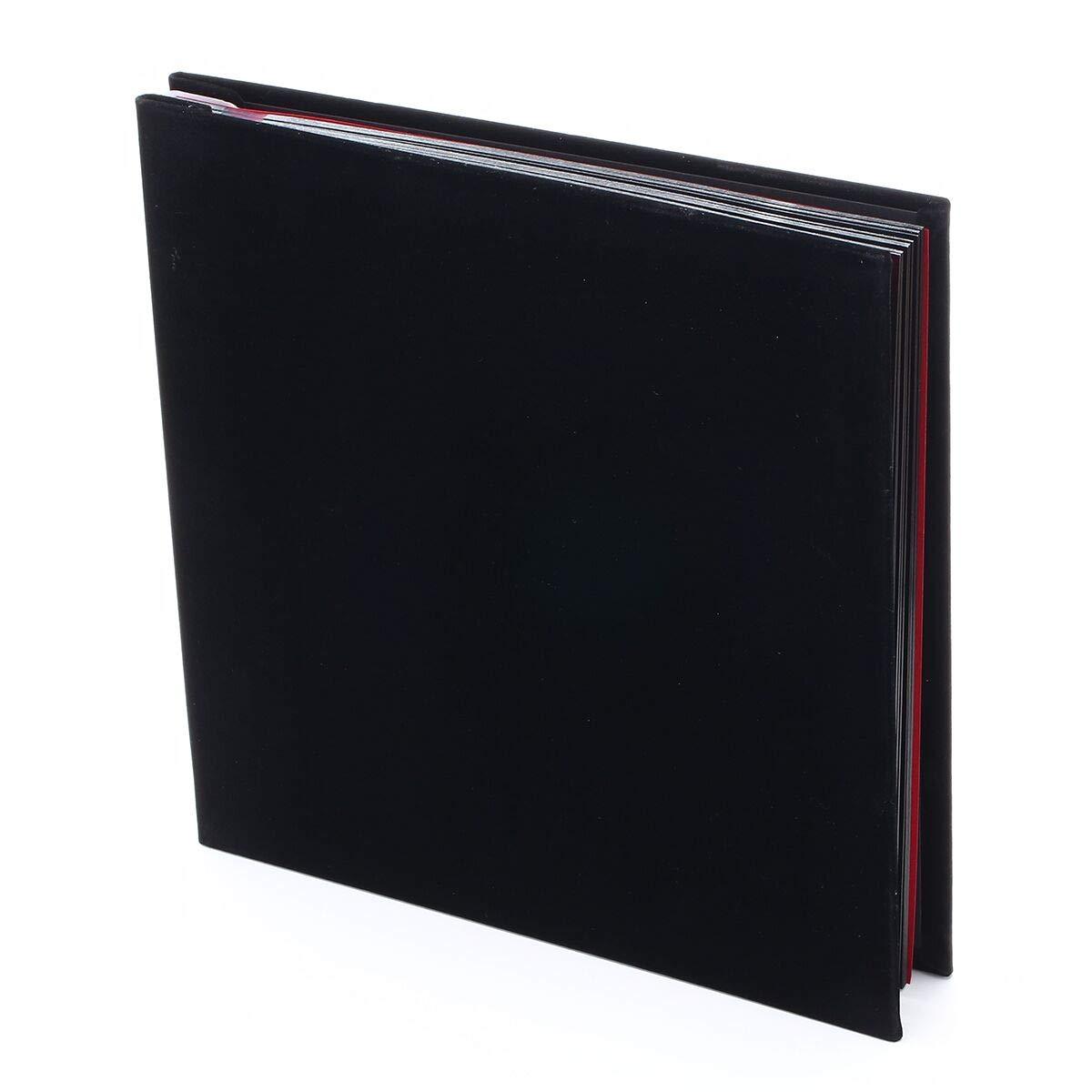 Álbum de Fotos Originales, diseño de la Cubierta de Gamuza 40 Páginas (20 hojas),Album Scrapbooking Puede ser Colocado de 80 Fotos 10x15 cm (marrón) chuangzang