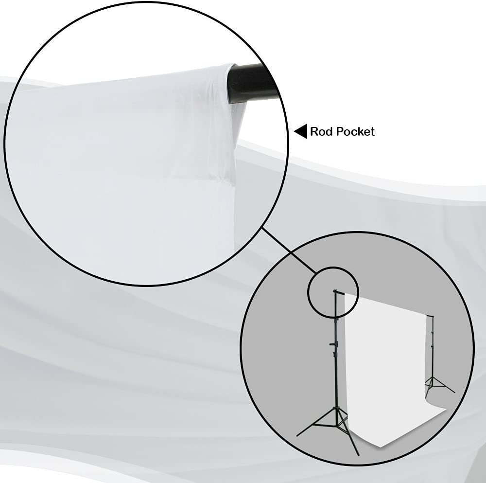 LMS264 LimoStudio Muslin Photography White Muslin Backdrop Background Support Stand Kit